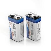 China 600 Mah 9v Lithium Ion Rechargeable Cell Batteries Deep Cycle For Smoke Detectors wholesale