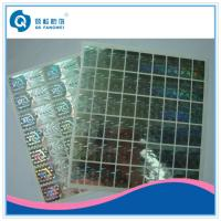 China Custom 2D / 3D Holographic Sticker , Die Cut Self Adhesive Hologram Sticker wholesale