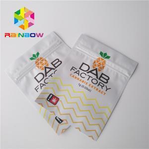 China Aluminum Foil Plastic Pouches Packaging Moisture Proof For CBD Oil Gummies Weeds wholesale