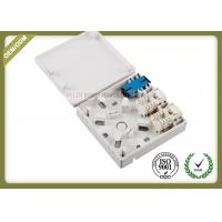 China Multi Functional Fiber Optic Faceplate 2 RJ45 Port ABS Material With Wire Winder wholesale