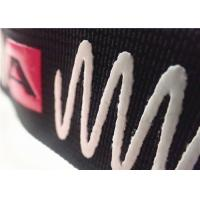Smooth Feel Shiny Surface Jacquard Elastic Band With Screen Printing Silicon