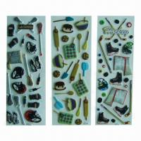 China Puffy stickers with fashionable design, eco-friendly, used for advertisement/promotional purposes wholesale