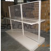 China Light Duty Convenience Store Wire Mesh Shelves Tegometal Gondola Double Sided wholesale