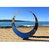 China Famous Outdoor Decoration Ring Sculpture Stainless Steel Modern Polished wholesale