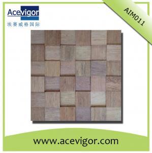 China Eco-friendly solid wood wall tiles, boat wood 3D wall mosaic tiles wholesale
