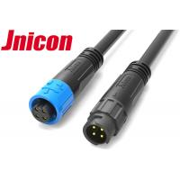 China Jnicon Bayonet Waterproof LED Connectors , 4 Pin Male Female AC Cable Connectors wholesale