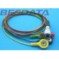 Quality TPU Material ECG Cables And Leadwires 4 Leads Colorized Cable Snap IEC for sale