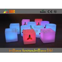 Indoor| / Outdoor LED Table And Chairs Modern Bar Furniture CE Certification