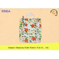 China High-Density 30*40cm die cut handle strong medium orange bags for snack gift pack wholesale