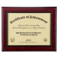 "China Mahogany 2- Toned 11""x 8 1/2"" Opening Solid Wood Certificate Picture <strong style=""color:#b82220"">Frames</strong> wholesale"