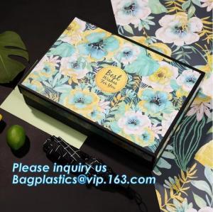 China Free sample Luxury velvet drawer packaging perfume custom paper box with logo stamping golden,headband packaging box for wholesale