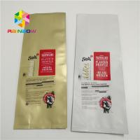 China Big Size Plastic Pouches Packaging , Aluminum Foil Bags With Valve Quad Seal Side wholesale
