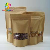 Costomized Size Kraft Paper Bags Oval Window For Food / Dry Meat / Sea Products