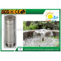 China Morning Glory Pool Fountain Heads , Water Feature Fountain Heads Cone Shape Cover wholesale