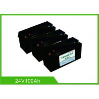 China 24V 100AH Deep Cycle Lithium Battery , UPS Rechargeable Lifepo4 Battery Bluetooth Communication wholesale