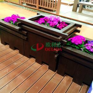 China Prefabricated WPC Composite Garden Planters Pot 2372 X 694 X 746mm For Park Decoration wholesale