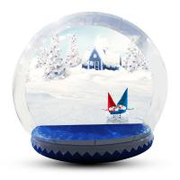 China Human Size Snowball Snow Globe / Giant Inflatable Christmas Globe For Festival wholesale
