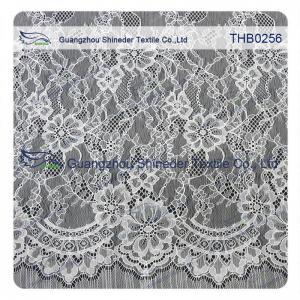 China 1.45*3 Meters size nylon chantilly lace trim for fashion & wedding dress wholesale