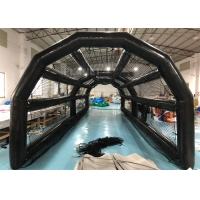 China 0.6mm PVC Air Sealed 40ft Inflatable Baseball Batting Cage With Net wholesale