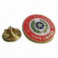 Buy cheap Epoxy Metal Pin, 0.3 to 1.5mm Thickness, Die-cast, Electroplated, Customized Moldings are Accepted from wholesalers