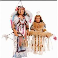New Vintage Collection Native Porcelain Indian Girls' Toy Dolls