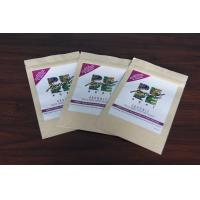 China Custom Kraft Paper Tea Bags Packaging Good Printing with Zipper wholesale