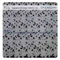 China Thick Polyester Charming Allover Fabric Chemical Lace For Lady Garment wholesale