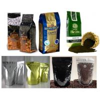 China Custom Design Foil Coffee Bag With One Way Degassing Valve , Green / Black wholesale