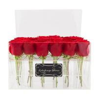 China custom made cheap wholesale plastic rose acrylic flower box design wholesale