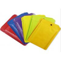 Quality Colorful Heat Seal Pouches Three Side Sealed Packaging Bag For Skincare Mask for sale