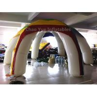 China Customized Colorful 6 Legs Airtight Inflatable Tent with air pump wholesale
