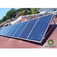 Buy cheap Pre - Assemble Flat Rooftop Solar Mounting Systems Anodized Triangular Structure from wholesalers