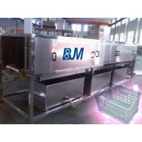 China Industry Full Automatic Turnover Crate Washer With Mitsubishi PLC wholesale