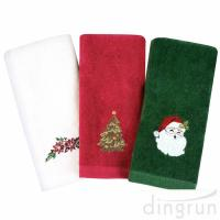 China Christmas Hand Towels 100%  Cotton Bathroom Kitchen Towels for Drying Cleaning Cooking wholesale