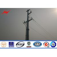 China Hot Dip Galvanized Utility Power Electrical Transmission Poles With Accessories wholesale