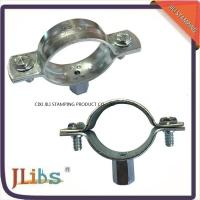 China Carbon Steel Material Galvanized Pipe Clamp Fittings Standoff Pipe Clamps wholesale