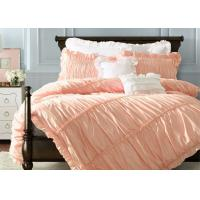 China Ruched Duvet Covers And Shams , Home 100 Cotton Bedding Sets Full 4 Pcs wholesale