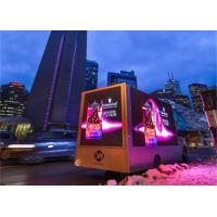 China Canada Truck Mobile Outdoor Advertising LED Display 6x3m 6000nits Brightniess on sale