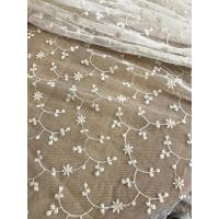 China Ivory Vintage Floral Nylon Lace Fabric By The Yard For Wedding Dresses 120cm Width wholesale