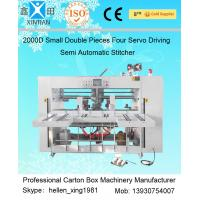 China Double Pieces Carton Box Stitching Machine Manual Feeding 60 Pcs / Min wholesale