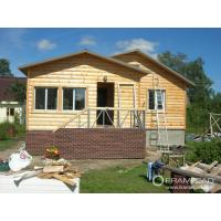 China Steel Structure Modern Wooden Log Houses , High Insulation Prefabricated Bungalow Homes on sale