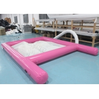 Buy cheap Pink 0.6mm PVC Tarpaulin Inflatable Sea Pool Fire Resistant With Net from wholesalers