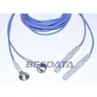 Quality Din 1.5 Colorful TPU EEG cup electrodes with AgCl Plated Cup ,1.5m Brain Wires for sale