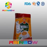 Quality Flat Bottom Vital Tea Packaging Bags / Economy Plastic Tea Packaging Pouches for sale
