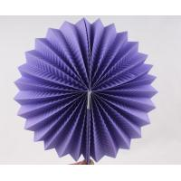 China Purple Paper Luxury Paper Accordion Lanterns / Balls With Round Shaped wholesale