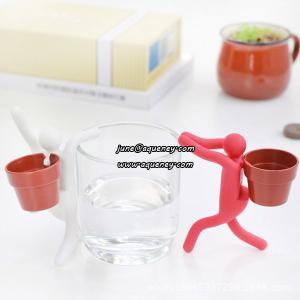 China Ecoey desktop planting, Iron Man silicone furnishing articles wholesale