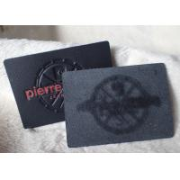 China Classic Durable Embossed Leather Patches , Fake / Genuine Leather Label wholesale