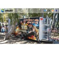 China Convenient Mobile Trailer 5D Movie Theater , Genuine Leather Motion Cinema Chair wholesale