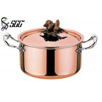 China Polished Round European Copper Pot 3-Ply Cookware For Restaurants wholesale