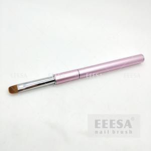 China Size #12 Gel Hard Master Manicure Short Hair Pink Kolinsky French Nail Brush wholesale